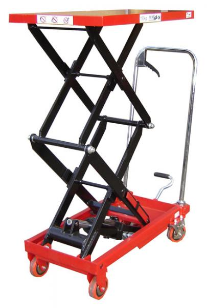 Double Manual Scissor Lift Tables